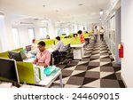 interior of busy modern design... | Shutterstock . vector #244609015