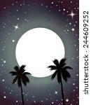 shadow under the moon   Shutterstock . vector #244609252