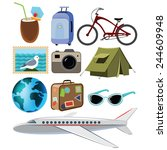 travel icons symbol collection. ... | Shutterstock .eps vector #244609948
