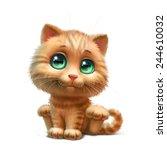 Stock photo kitten 244610032