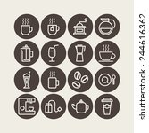 set of simple icons for... | Shutterstock .eps vector #244616362