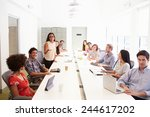 design team collaborating on... | Shutterstock . vector #244617202