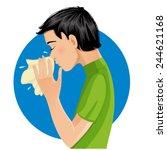 sneezing man  eps10   Shutterstock .eps vector #244621168