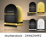 top rounded black business card | Shutterstock .eps vector #244624492