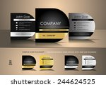 square business cards with one...   Shutterstock .eps vector #244624525