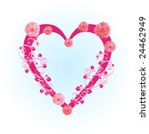 vector valentine  area of heart ... | Shutterstock .eps vector #24462949