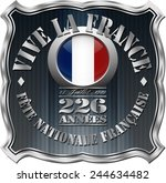bastille day badge with shield... | Shutterstock . vector #244634482