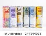 swiss franc rolls  | Shutterstock . vector #244644016
