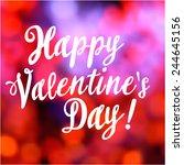 valentines day vintage...   Shutterstock .eps vector #244645156