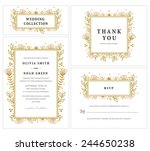 wedding invitation collection... | Shutterstock .eps vector #244650238