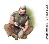 Digital Illustration Of A...