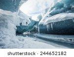Glacial Cave In Vatnajokull In...