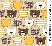 childish pattern with teddy... | Shutterstock .eps vector #244652572