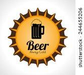 beer design over white... | Shutterstock .eps vector #244655206
