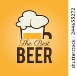 beer design over white... | Shutterstock .eps vector #244655272