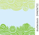 floral nature pattern... | Shutterstock . vector #244656712