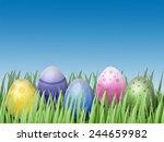 easter egg in grass | Shutterstock . vector #244659982