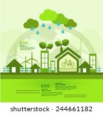 let's go green together | Shutterstock .eps vector #244661182