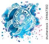 vector illustration of a totem... | Shutterstock .eps vector #244667302