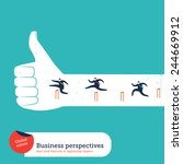businessmen leaping over...   Shutterstock .eps vector #244669912