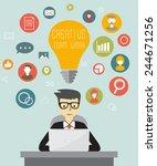 creative flat network concept | Shutterstock .eps vector #244671256