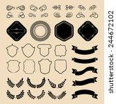 beg vector set of vintage...   Shutterstock .eps vector #244672102