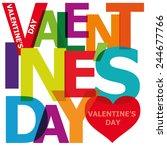 vector valentine's day. broken... | Shutterstock .eps vector #244677766