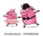 cute cartoon vector pigs...