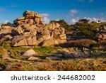 pink granite coast  brittany ... | Shutterstock . vector #244682002