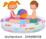 stock vector cartoon... | Shutterstock .eps vector #244688428