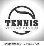 sports design over white... | Shutterstock .eps vector #244688725