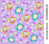 floral  background graphic... | Shutterstock . vector #244688818