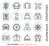 travel and vacation line icons... | Shutterstock .eps vector #244691062