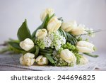 Bouquet Of White Tulips And...