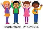 stock vector cartoon... | Shutterstock . vector #244698916