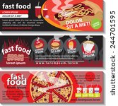 fast food flyer template set  ...   Shutterstock .eps vector #244701595