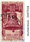 Vintage Postage Stamp Italy World Ephemera - stock photo