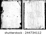 grunge black and white distress ... | Shutterstock .eps vector #244734112