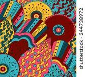 hand drawn seamless pattern... | Shutterstock .eps vector #244738972