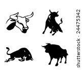 black ox   chinese paper cut | Shutterstock .eps vector #24475342