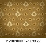Renaissance background with crowns and rhombuses - stock photo
