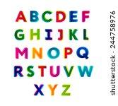 creative colorful alphabet.   Shutterstock .eps vector #244758976