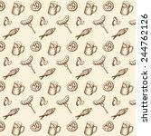 vector illustrations snacks... | Shutterstock .eps vector #244762126