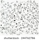 flowers ornament. handmade... | Shutterstock . vector #244762786