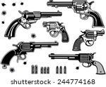 guns  revolver collection set... | Shutterstock .eps vector #244774168