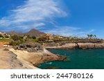 beach las americas in tenerife... | Shutterstock . vector #244780126
