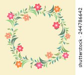 frame decorated by small... | Shutterstock .eps vector #244786642