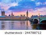 Cityscape Of Big Ben And...