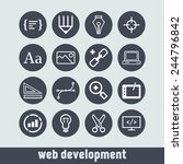set of simple icons for web... | Shutterstock .eps vector #244796842