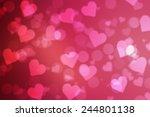 red valentine sparkle bokeh...   Shutterstock . vector #244801138